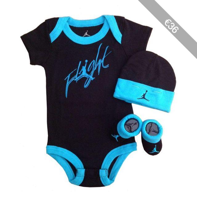 Nike Jordan Baby Shoulder Bodysuit Booties and Cap 0 6