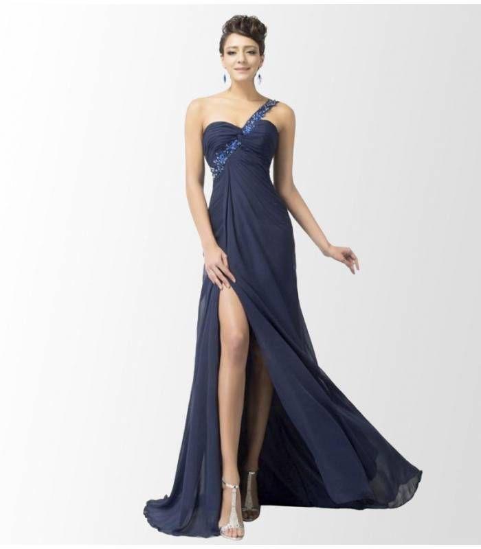 00edfc74d Vestido largo fiesta azul oscuro