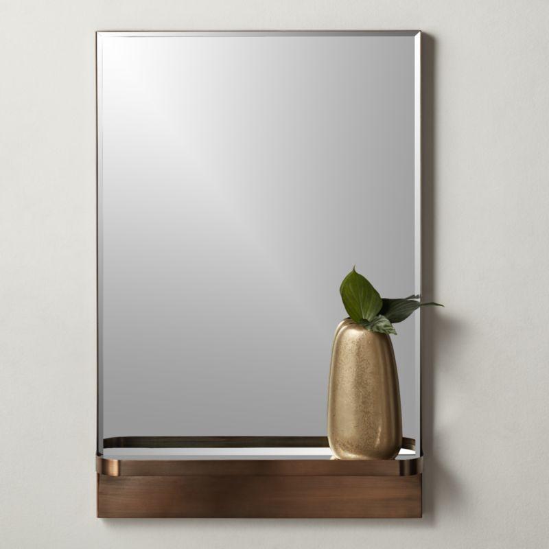 Cooper Rectangular Mirror With, Large Rectangular Modern Mirrors