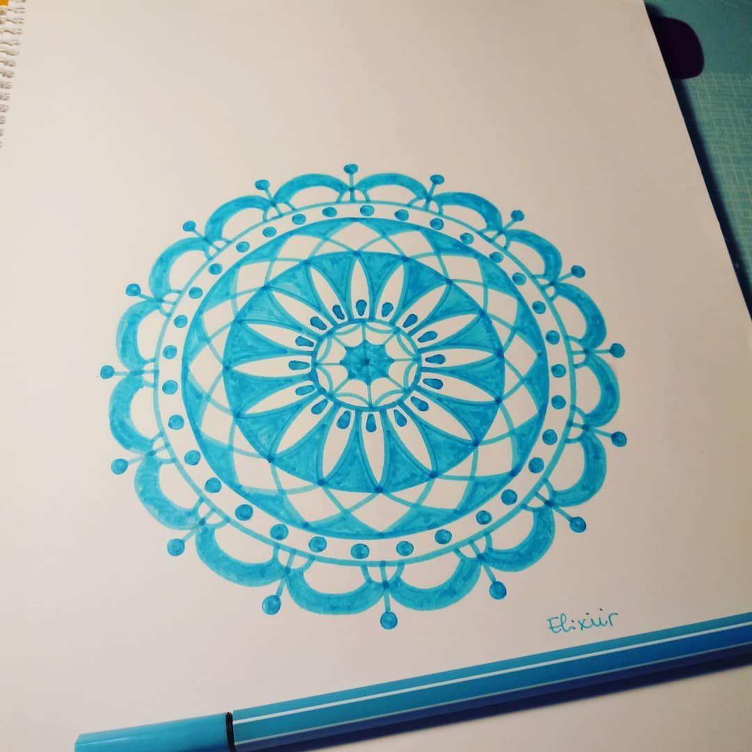 Mandala En Color Eli Elixiirart Elixiirart En Instagram Feeling Blue Today Mandalas Mandalapassion Ma Arts And Crafts Crafts Electronic Products