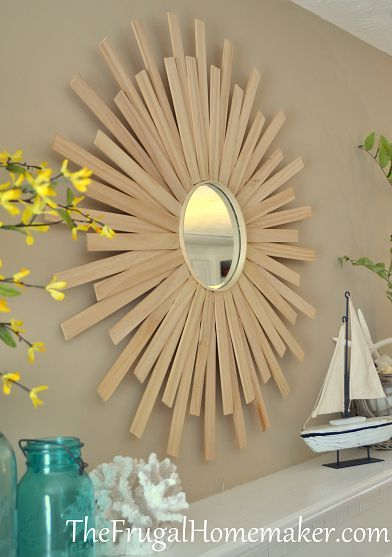 Diy Sunburst Mirror Sunburst Mirror Mirror Decor Cheap Mirrors