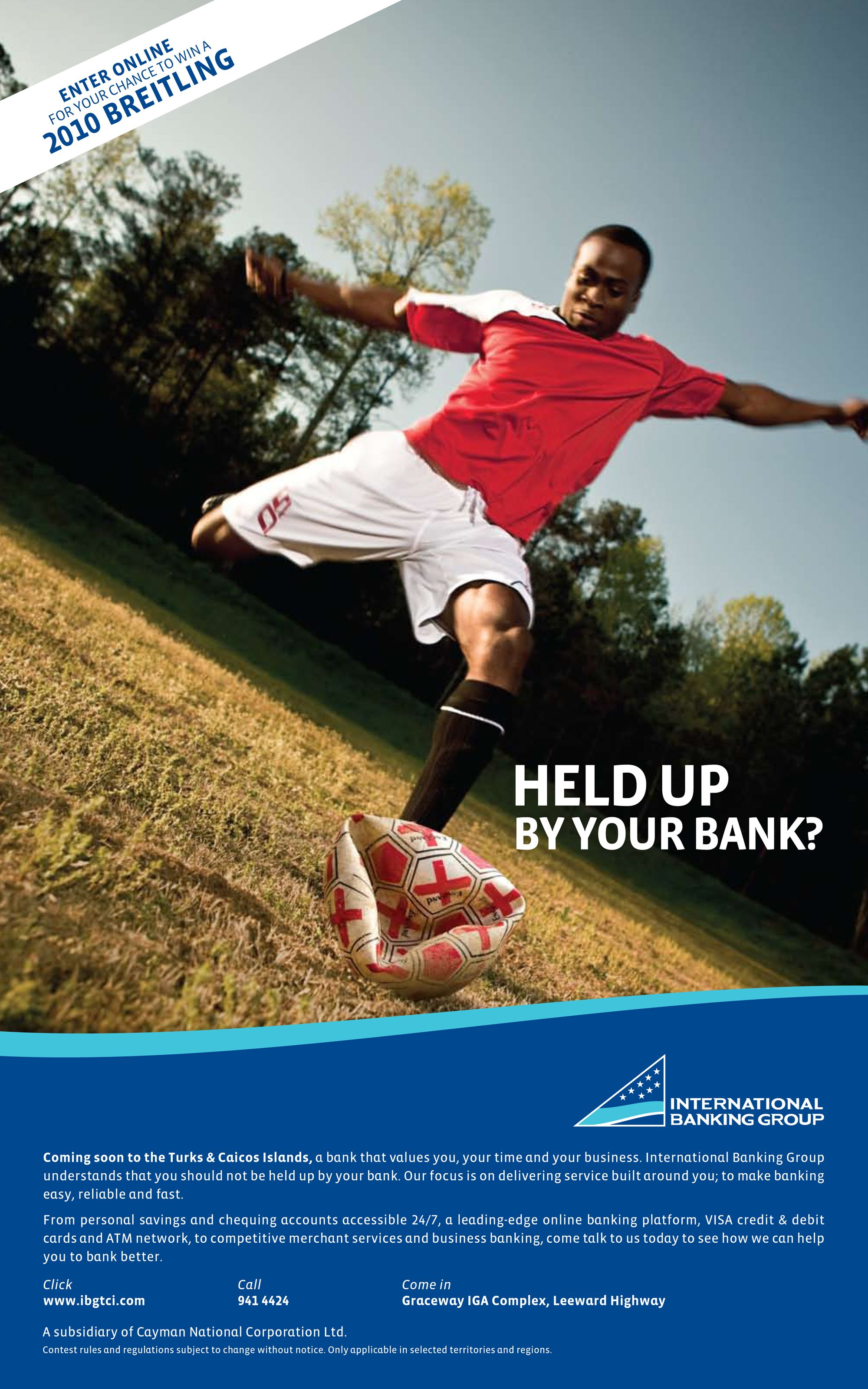 Held Up By Your Bank Campaign Soccer Ad Personal Savings Campaign Hold On