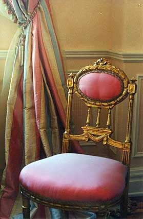 Louis XVI chair...and it's pink!