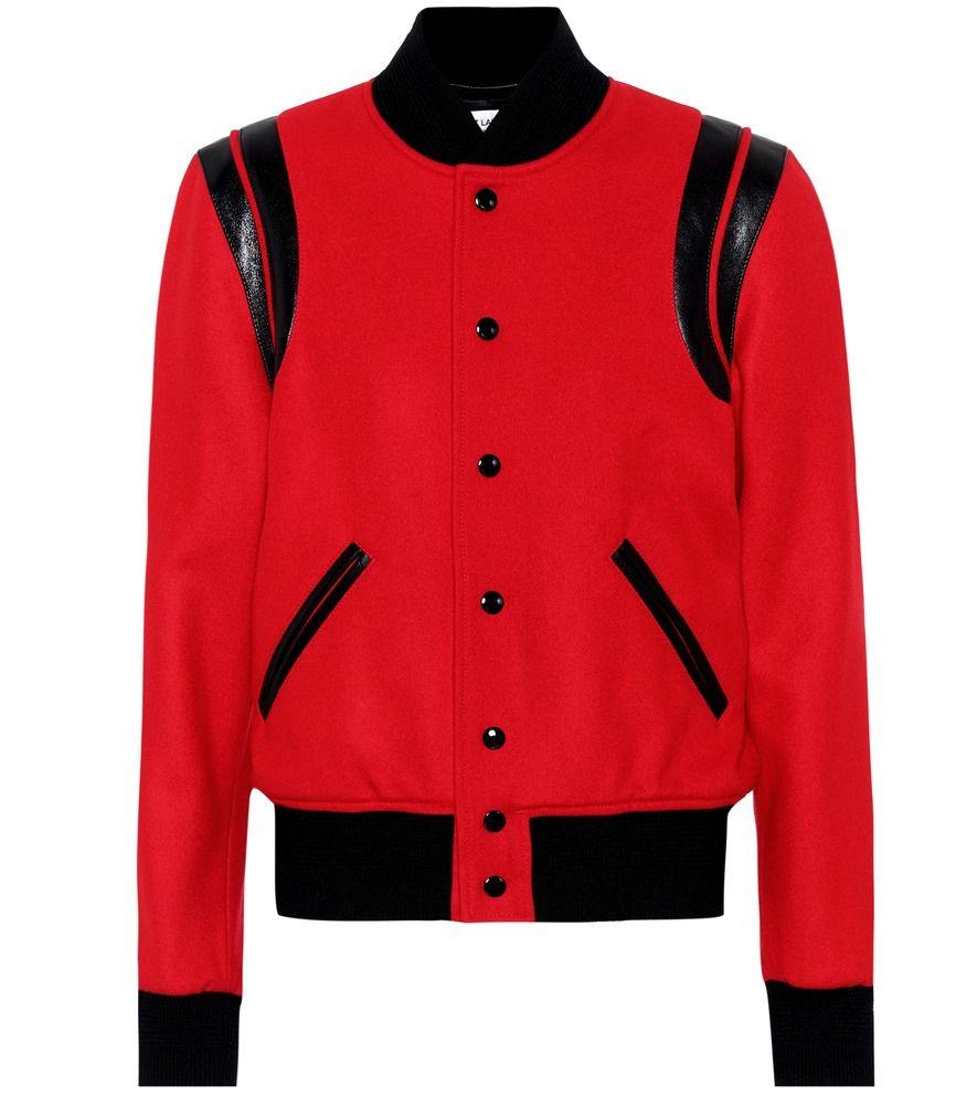 Saint Laurent Classic Teddy wool bomber jacket #skinnyjeansandankleboots