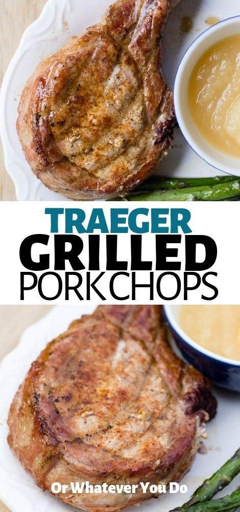 Traeger Grilled Bone-in Pork Chops | Recipe | Easy pork ...