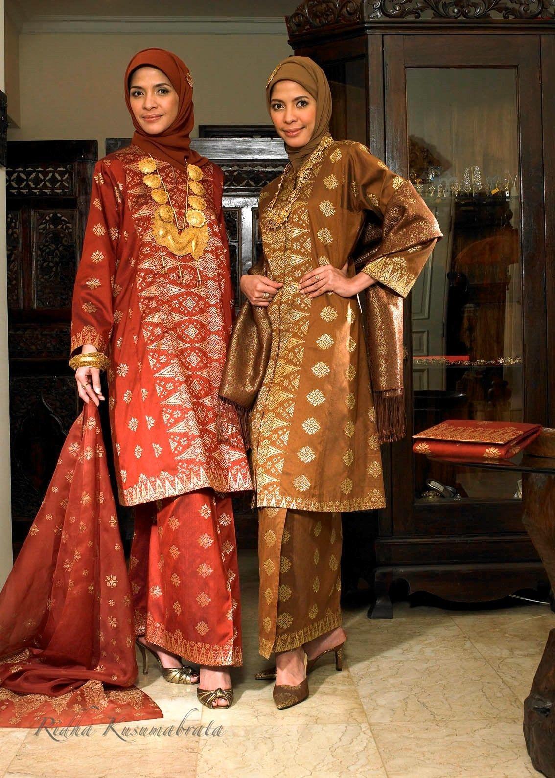 Kebaya Songket Riau  Model baju wanita, Pakaian islami, Pakaian
