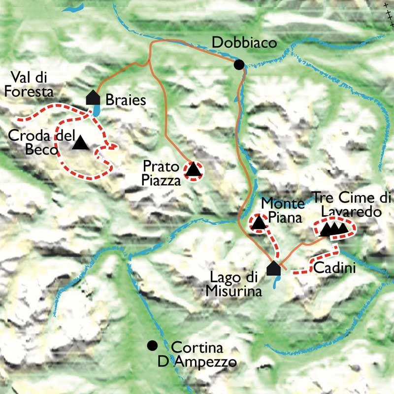 carte touristique des dolomites itinéraire 7 jours | Itinéraire, Randonnée, Italie