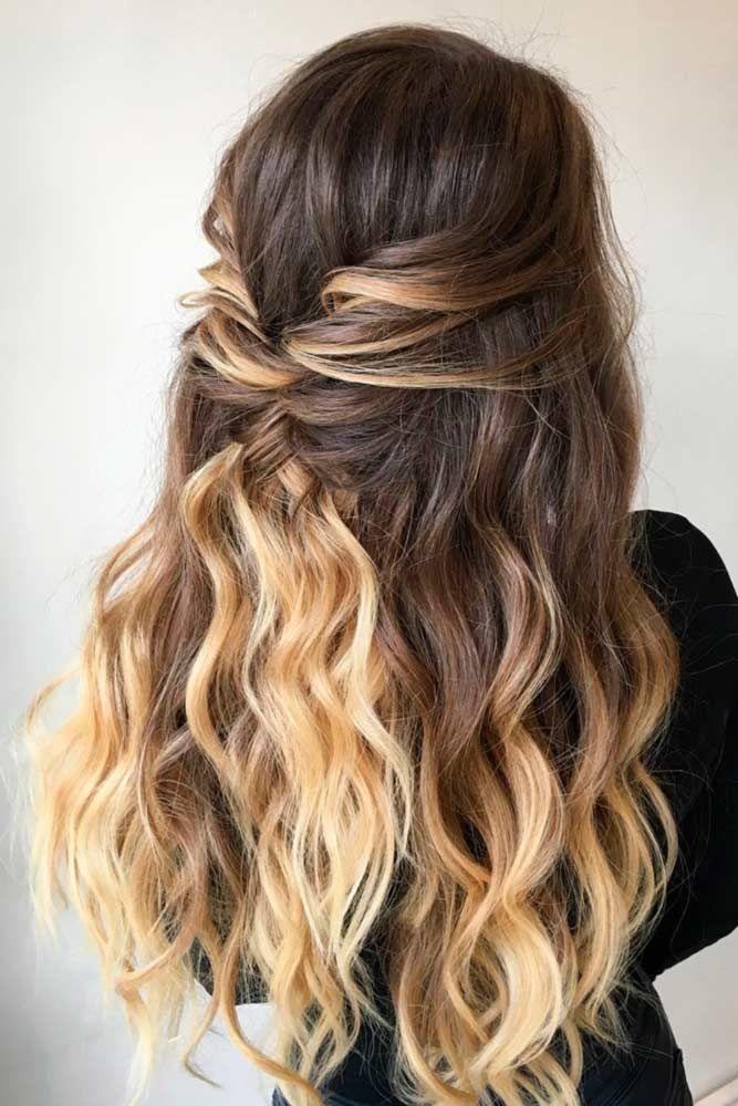 peinado | Acconciature capelli lunghi sposa, Acconciature ...