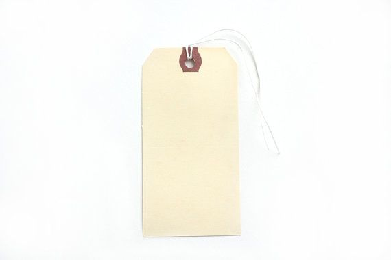 Manila Medium Shipping Tags Set of 20 by PartAndParcelShop on Etsy, $4.50
