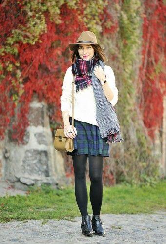 geek chic plaid skirt