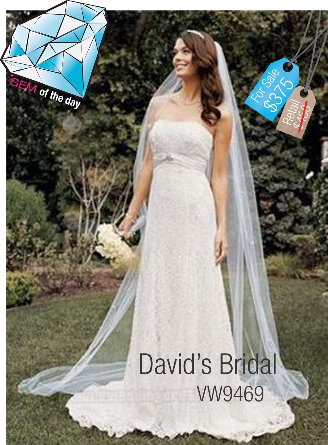 Gem of the Day - David\'s Bridal Used Wedding Gown only $375 at ...