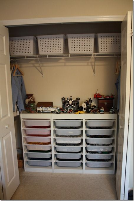 Ikea Trofast For Lego Storage. She Started With Smaller Bins In The Expedit,  But It Wasnu0027t User Friendly.