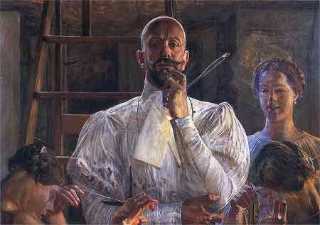 Jacek Malczewski - Pożegnanie z pracownią or the Farewell to the Atelier - ca. 1913