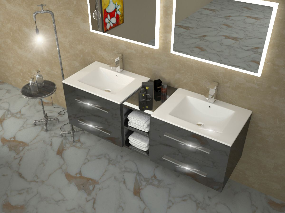 Double Basin Sink Drawer Cabinet