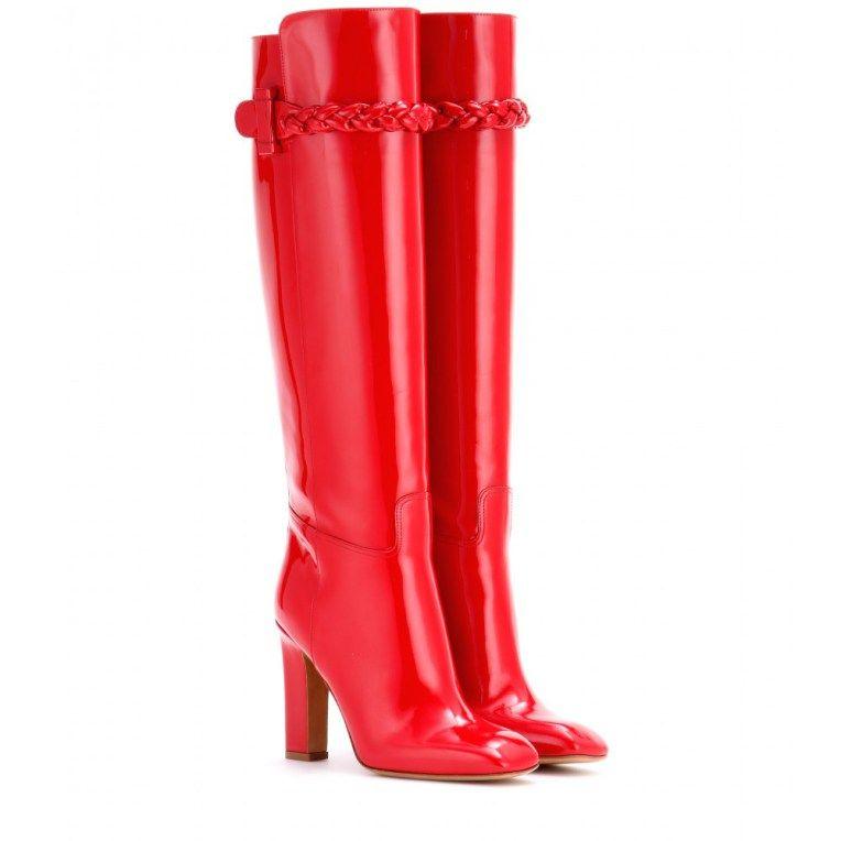 Les bottes rouges Valentino de Jenifer