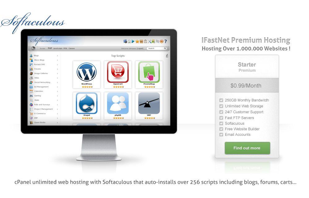 Premium Hosting with Softaculous