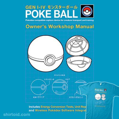 Poké Ball Manual #anime #drsimonbutler #gaming #haynesrepairmanual #nintendo #pokeball #pokemon #pokemongo #tvshow #videogame