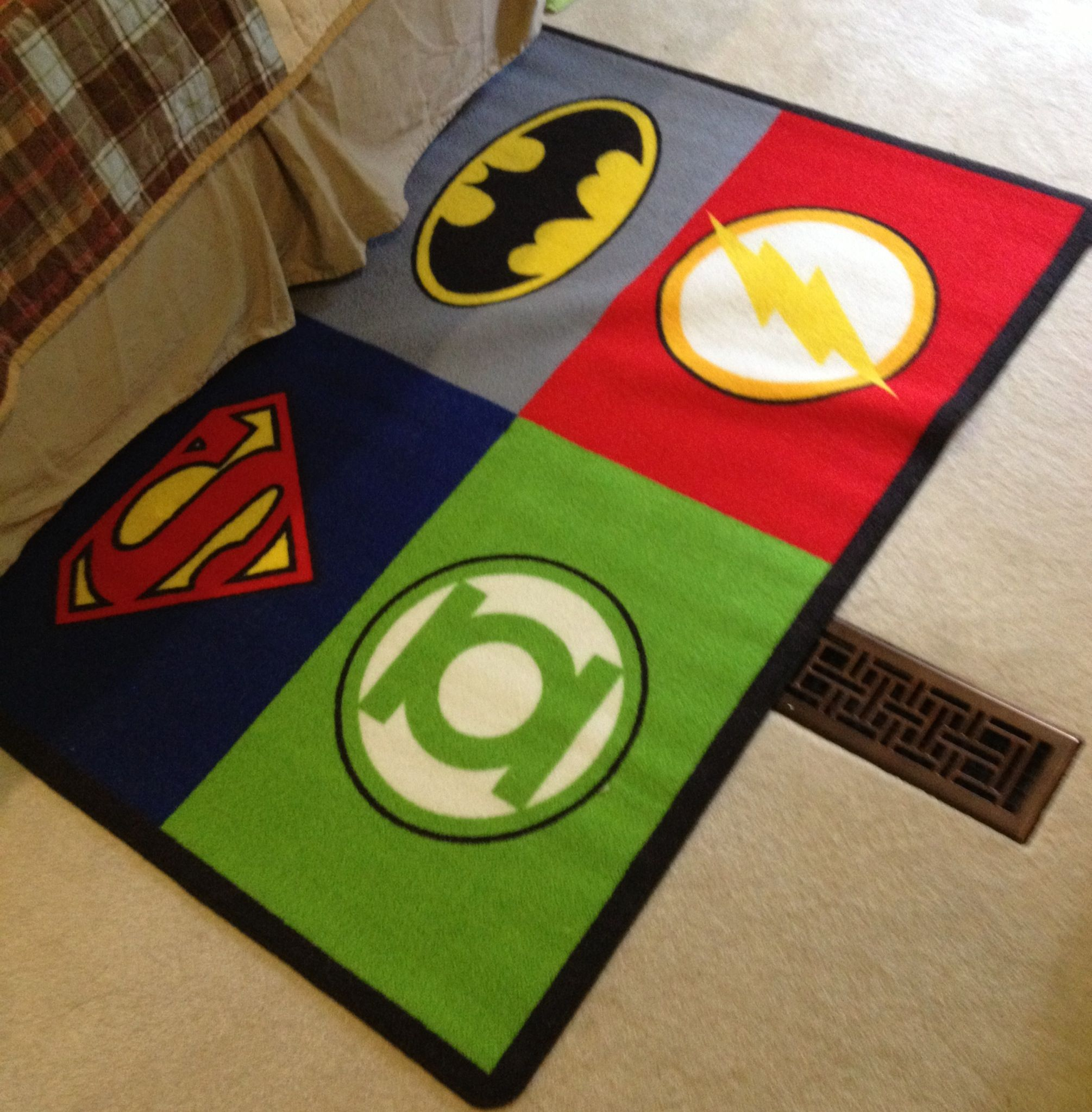 My New Rug For My Comic Book Room