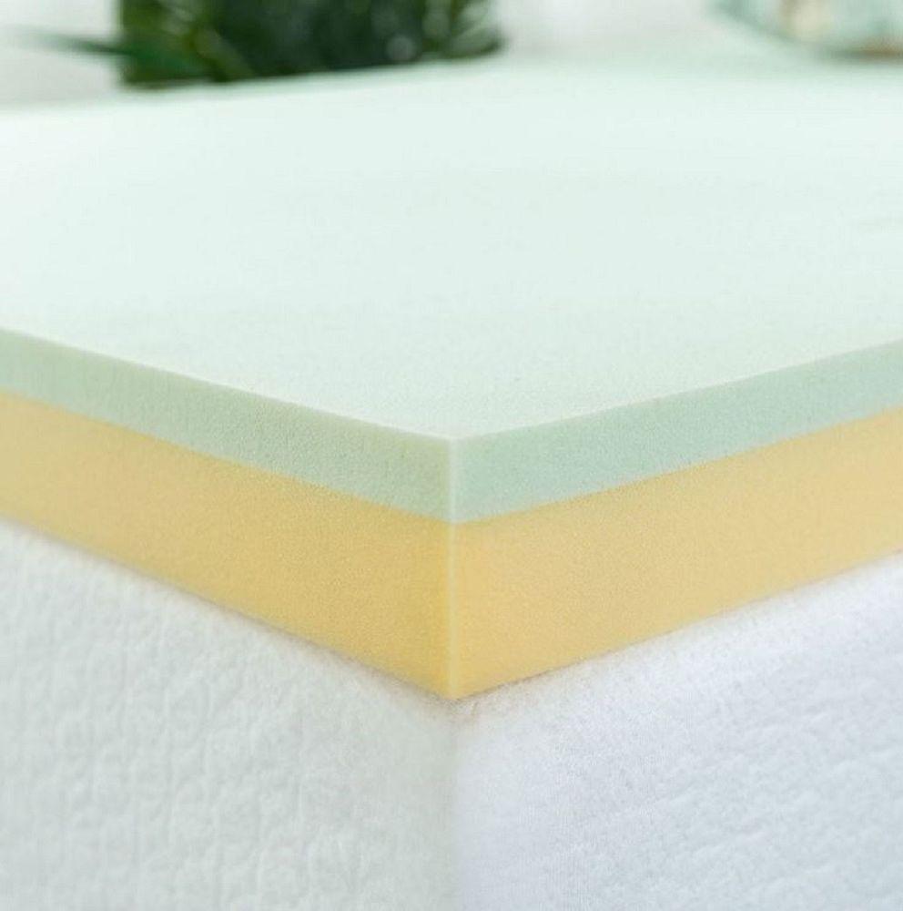 3 Inch Mattress Topper Green Tea Infused Memory Foam W High