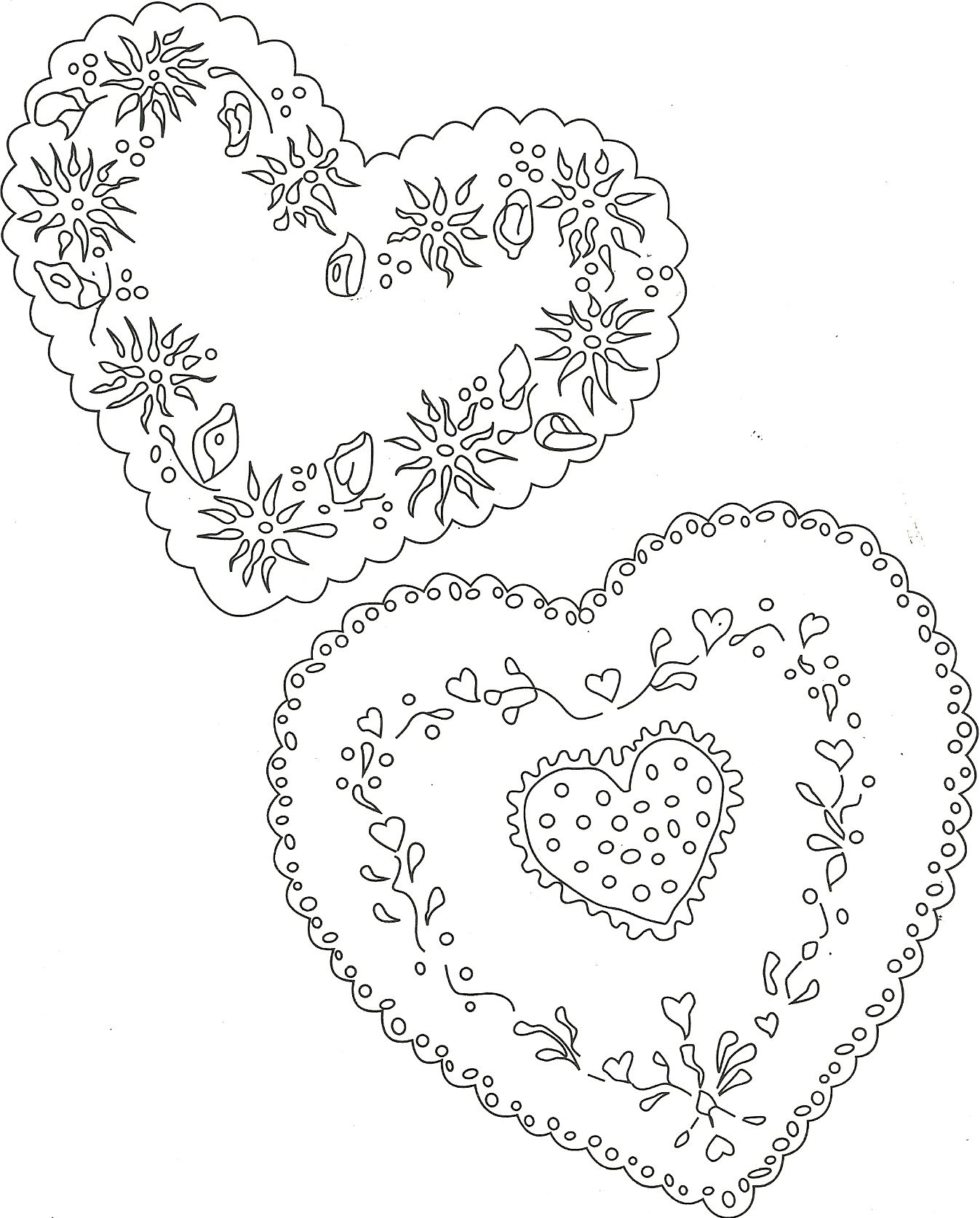 Floral Hearts Gift Tags Cards Miscellaneous