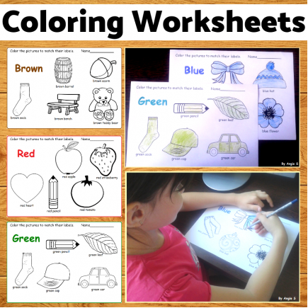 Print and Go Coloring Worksheets- 10 colors #autism #noprep
