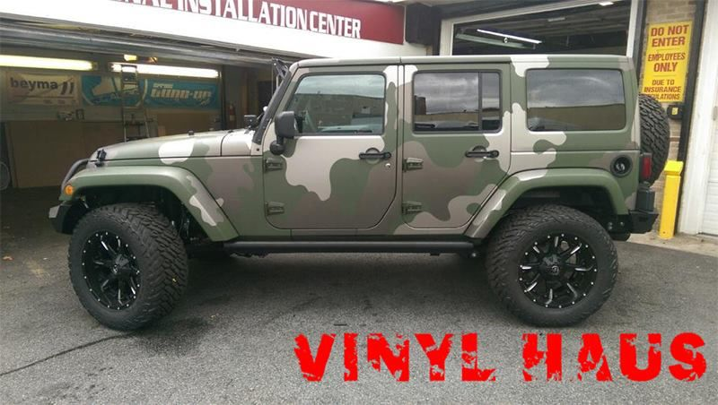 Custom Camo Wrap Done With 3m 1080 Matte Military Green Mat