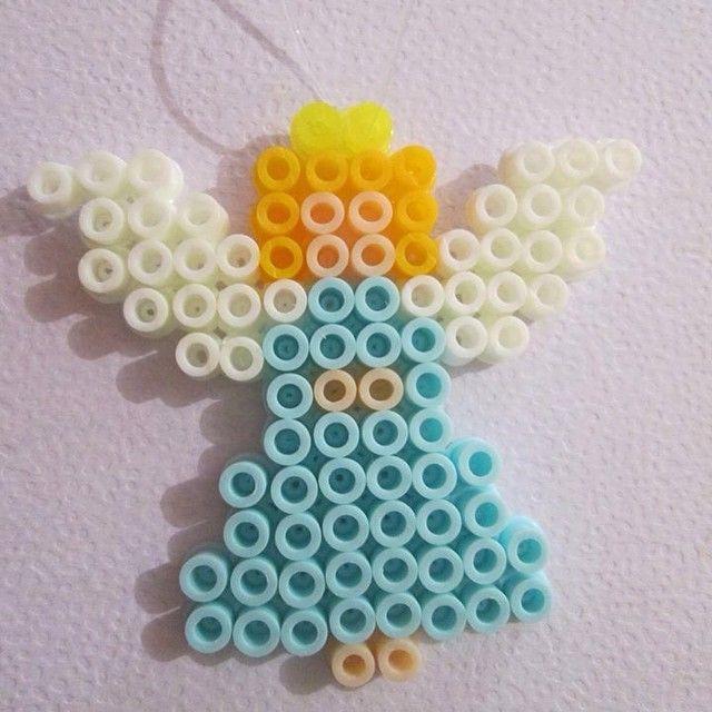 Christmas angel hama beads by thisisgoretti