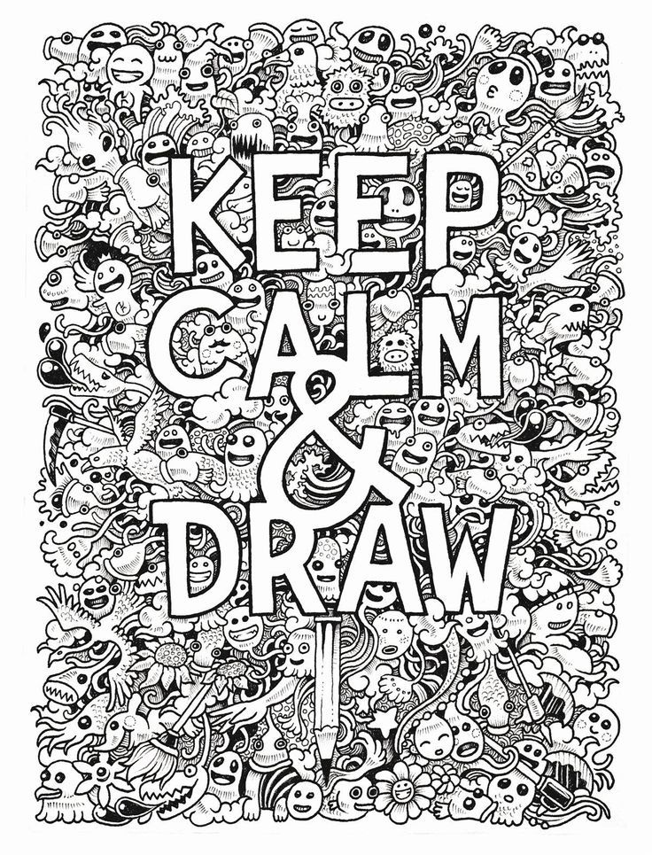 Coloring Pages Keep Calm