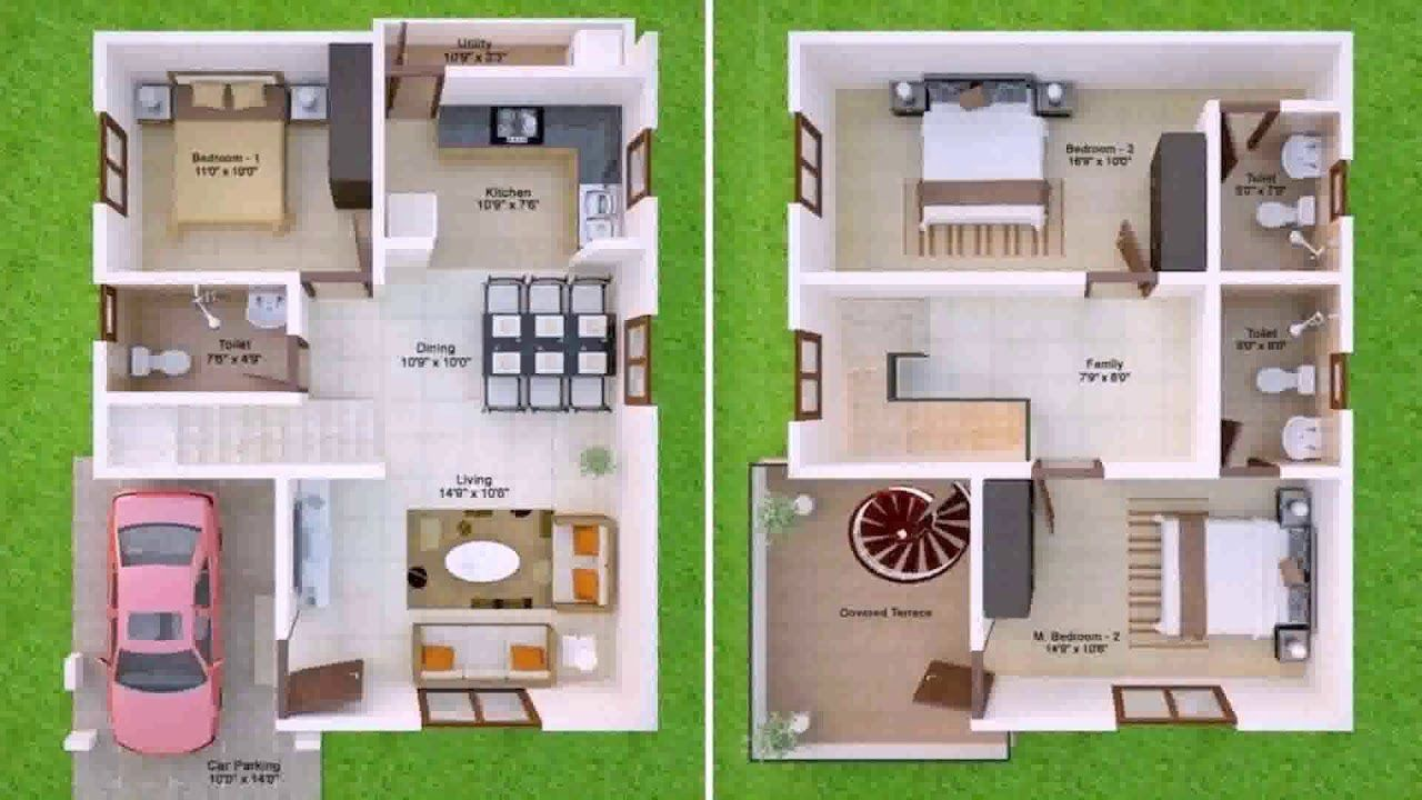 1600 Ft House Plans Elegant 1600 Sq Ft House Plans Indian Style See Description In 2020 Duplex House Design North Facing House 20x30 House Plans
