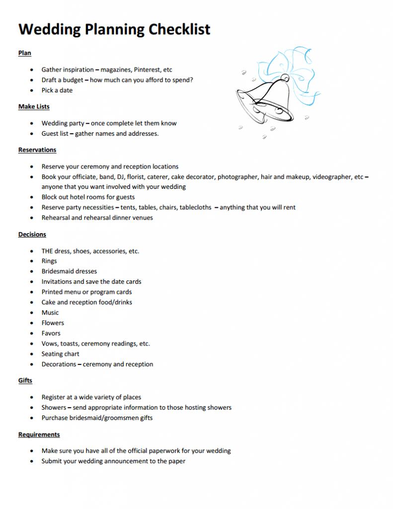 Wedding Planning Checklist | Wedding planning checklist, Wedding planning,  How to plan