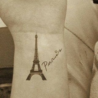 5 totally awesome eiffel tower tattoo designs totally awesome rh pinterest com Beautiful Eiffel Tower Tattoos Winter Eiffel Tower at Night