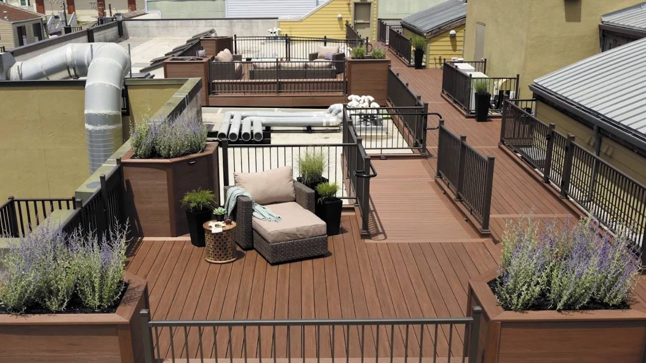 Engineering A San Francisco Rooftop Deck Using Azek Deck Patio Patio Roof Rooftop Deck