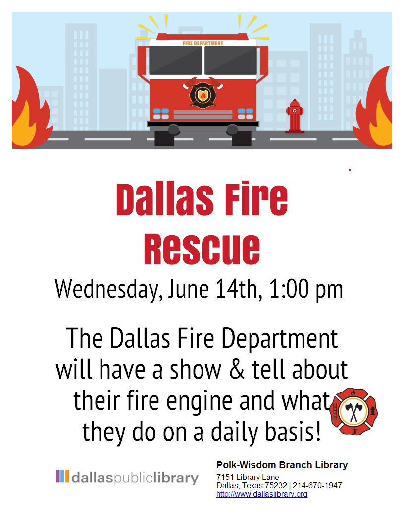 Love this program by Dallas PL for a Fire Rescue show and