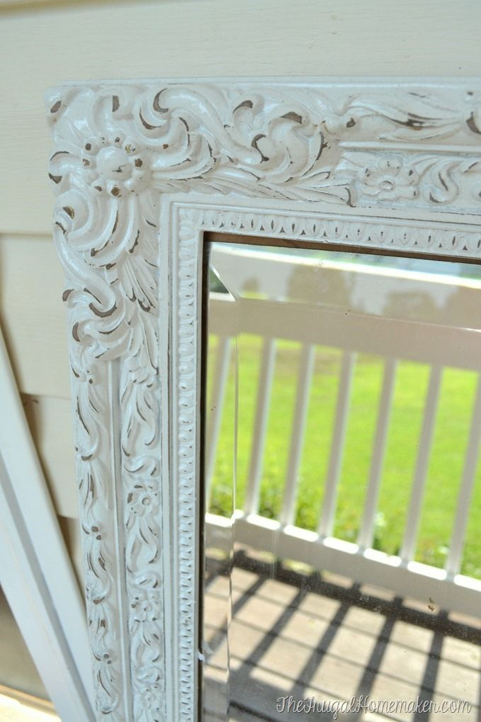 Mirror Mirror On The Wall It S Time For Your Second Spray Paint Makeover Painting Mirror Frames Distressed Mirror Frame Spray Paint Mirror