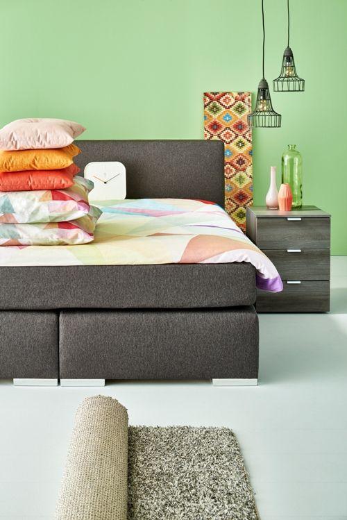 frisse kleuren in je slaapkamer! #woonexpress #slaapkamer, Deco ideeën