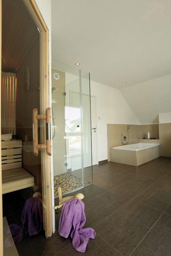 Fertighaus wohnidee badezimmer wellness bad mit sauna wohnideen badezimmer pinterest - Badezimmer mit sauna ...