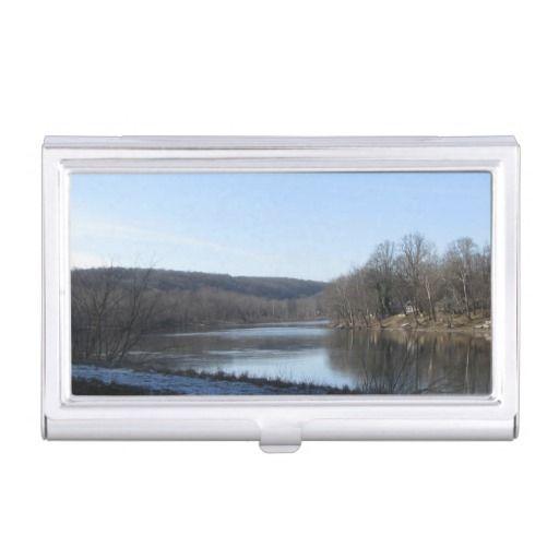 Lake Scene Business Card Holder