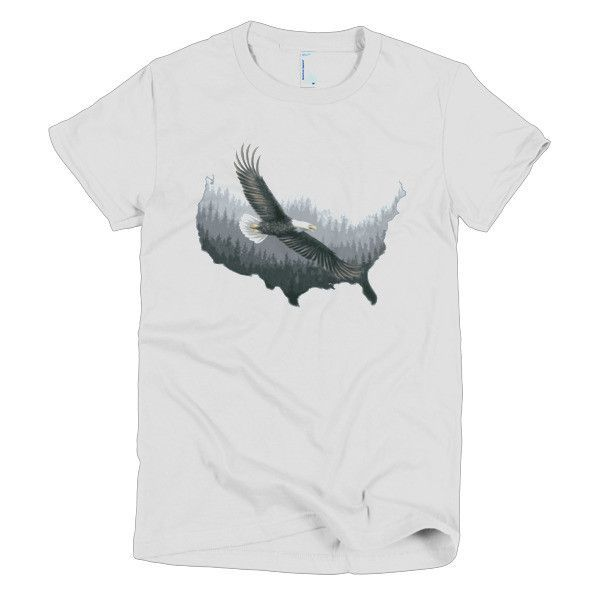 Short sleeve women's t-shirt - USA eagle