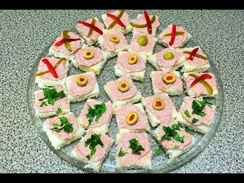 CANAPÉS VARIADOS DE PAN DE MOLDE | Recetas de Cocina - YouTube