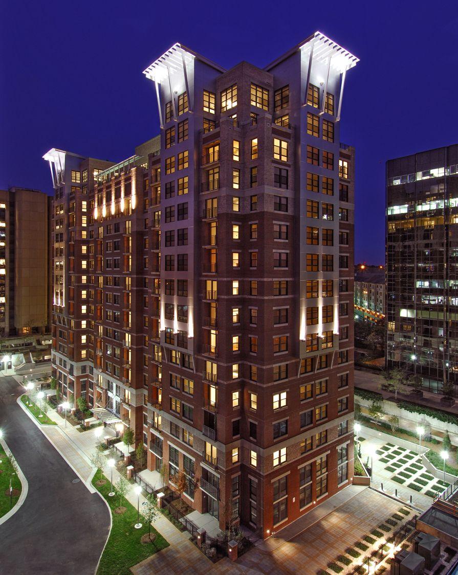 """Halstead Tower"" is a 16-story luxury condominium in Alexandria, Virginia."