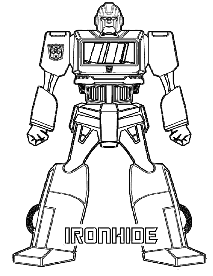 Iron Hide Transformer Coloring Page - Transformer Coloring Pages ...