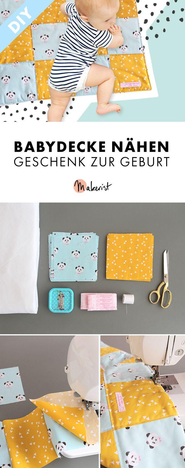 Photo of Geschenk für die Geburt – Babydecke nähen – Makerist Magazin