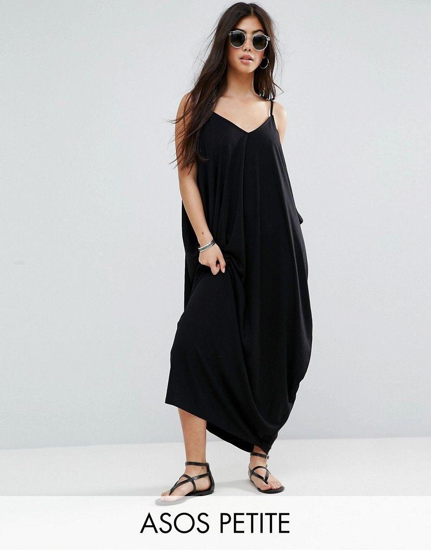 Buy it now. ASOS PETITE Drape Hareem Maxi Dress - Black. Petite ...