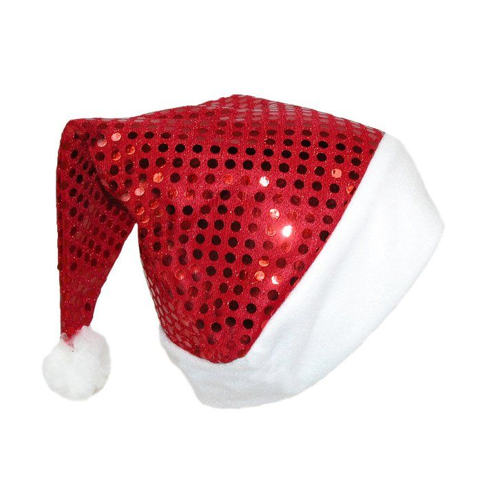 Jacobson Hat Company Women's Red Sequin Santa Hat, Red/White, One Size