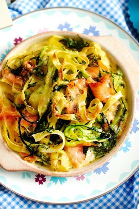Nudelauflauf mit Lachs #thaifoodrecipes