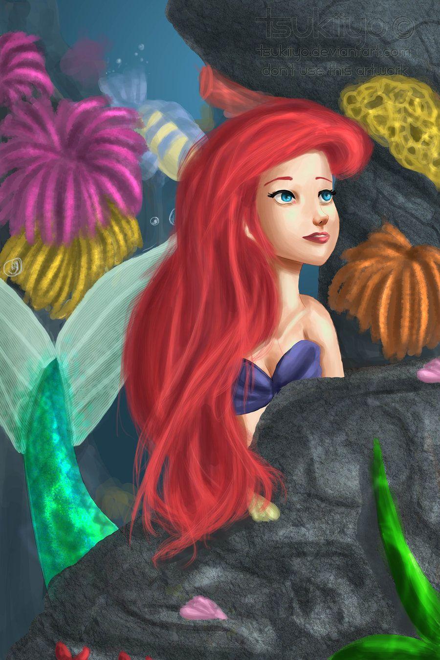 Ariel by tsukiiyoviantart disney ariel pinterest