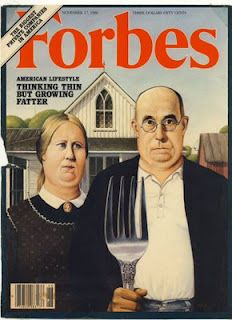 American Gothic Parodies: American Gothic Forbes Magazine Cover 1986