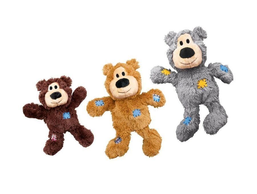 Kong Wild Knots Bear Dog Toy Medium Large Colours Vary Ad