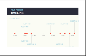 excel project timeline templates