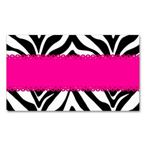 Elegant zebra print custom pink place cards place cards and zebra elegant zebra print custom pink place cards reheart Choice Image